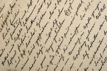 old handwritten text in german language