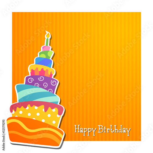 Vector Illustration of a Birthday Card