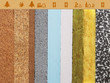 Leinwanddruck Bild - various materials for thermal insulation