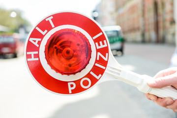 Polizeikelle - Halt Polizei