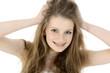 Schülerin rauft sich die Haare