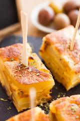 Spanish omelet tapas