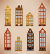 8 Holland Houses (retro colors)