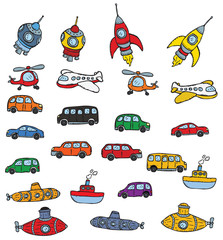 Vehicles symbols