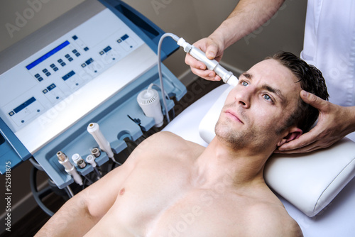 men in a beauty clinic
