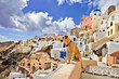 view of stanning Santorini.. (by dog