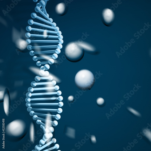 DNA strand background