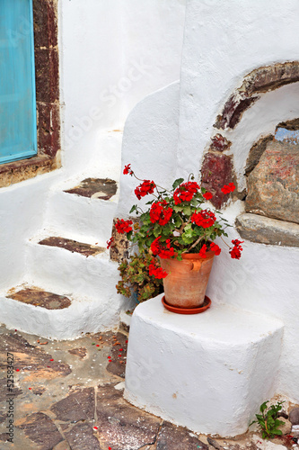 charming small greek details. Santorini streets