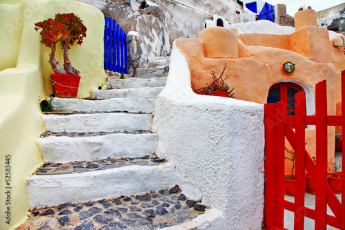 colors of Greece series- streets of Santorini