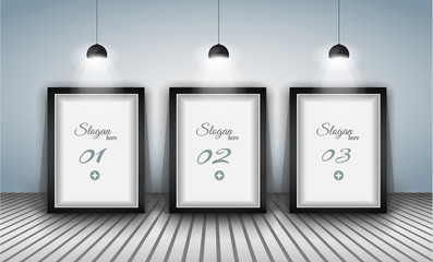 Elegant infographics design template with shopfront elements.