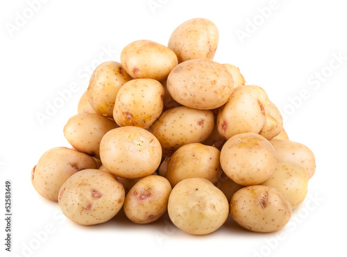 Big heap of raw potatoes