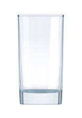 glass empty on white background