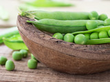 green fresh peas