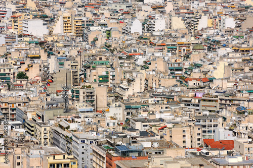 Papiers peints Athènes High urban density in Athens