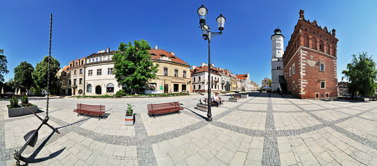 Town hall in Sandomierz -Stitched Panorama