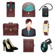 Vector business lady accessories