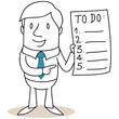 Geschäftsmann, To-do Liste, Mann, Zettel, Zeitmanagement