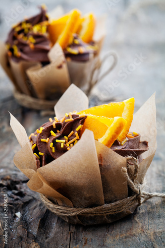 Orange chocolate cupcakes