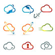 Set of Cloud icons 3