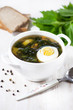 Nettle soup with egg