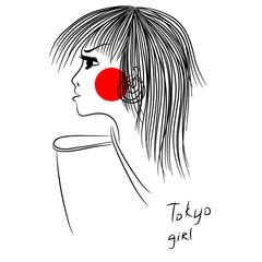 Tokyo girl print