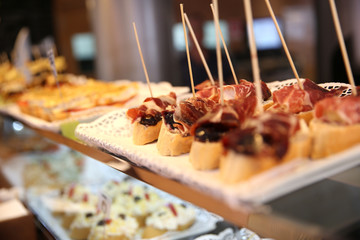 Closeup of Spanish tapas
