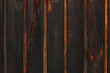 black wall made of  wood