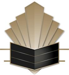 Art Deco Stye Badge