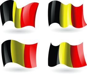4 bandeiras da Bélgica