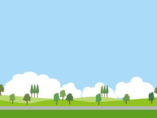 緑と空(背景)