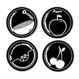 silhouette fruit icons
