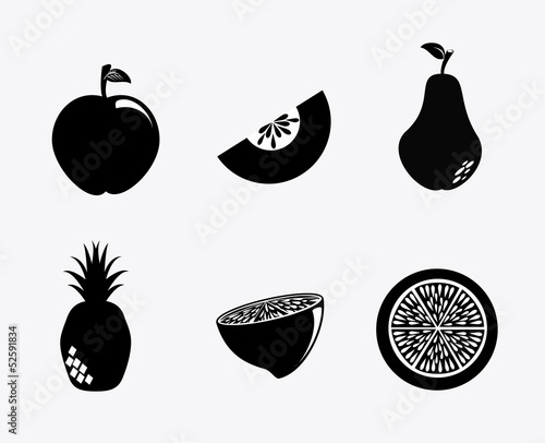 fruit silhouette