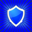 blue shield. vector
