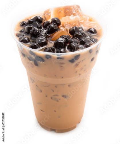 bubble tea brown isolated on white