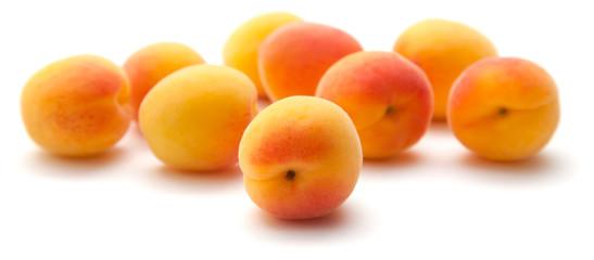 small ripe apricots