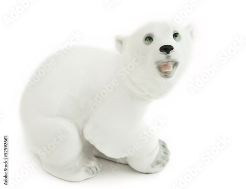 faience white bear