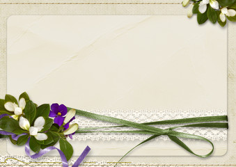 Vintage amazing background with bouquet and with space for text