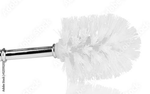 Toilet brush isolated on white