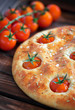 Focaccia with cherry tomatoes, rosemary and sea salt