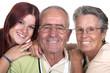 Grands parents et leur petite fille.