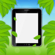 Tablet icon vector illustration on nature background