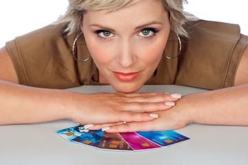 woman with credit cards