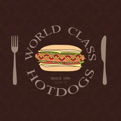 classic hotdog label
