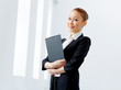 Attractive asian businesswoman in formal suit