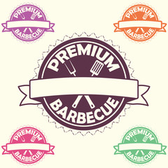 premium barbecue label