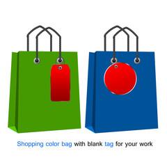 Shopping bag and tag