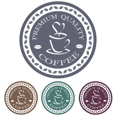 premium quality coffee label