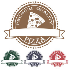 premium quality pizza label