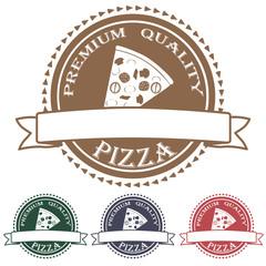 premium quality pizza label