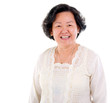 Cheerful asian senior woman
